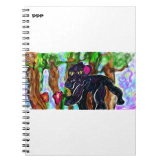 black panther beautiful jungle note books