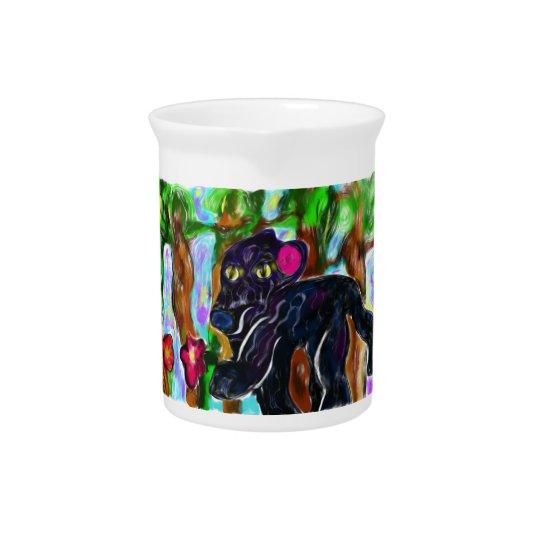 black panther beautiful jungle pitchers
