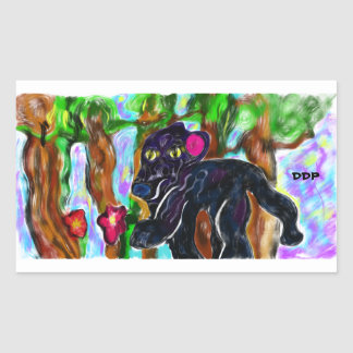 black panther beautiful jungle sticker