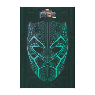 Black Panther | Black Panther Etched Mask Canvas Print
