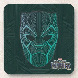 Black Panther | Black Panther Etched Mask Coaster