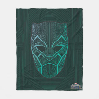 Black Panther | Black Panther Etched Mask Fleece Blanket