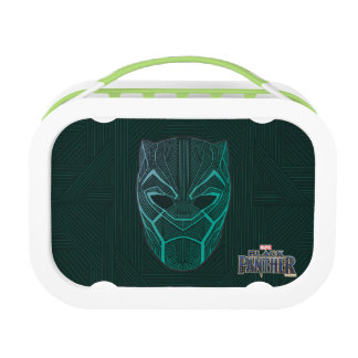 Black Panther   Black Panther Etched Mask Lunch Box