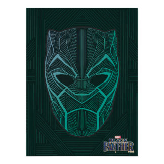 Black Panther | Black Panther Etched Mask Poster