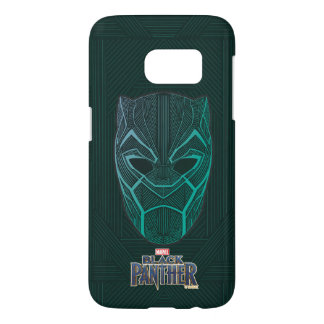 Black Panther   Black Panther Etched Mask Samsung Galaxy S7 Case