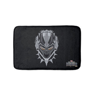 Black Panther | Black Panther Head Emblem Bath Mat