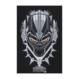 Black Panther | Black Panther Head Emblem Canvas Print