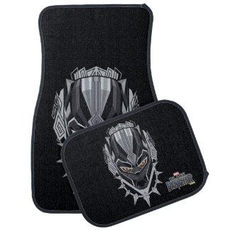 Black Panther   Black Panther Head Emblem Car Mat