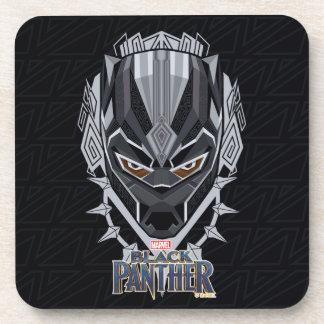Black Panther | Black Panther Head Emblem Coaster
