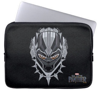 Black Panther | Black Panther Head Emblem Laptop Sleeve