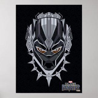 Black Panther | Black Panther Head Emblem Poster