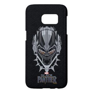 Black Panther   Black Panther Head Emblem Samsung Galaxy S7 Case