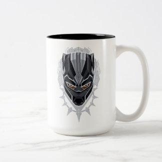 Black Panther | Black Panther Head Emblem Two-Tone Coffee Mug