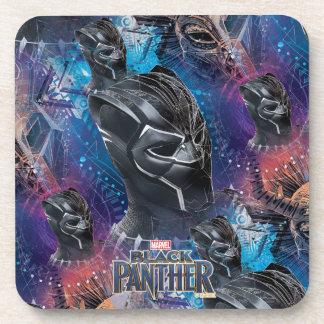 Black Panther | Black Panther & Mask Pattern Coaster