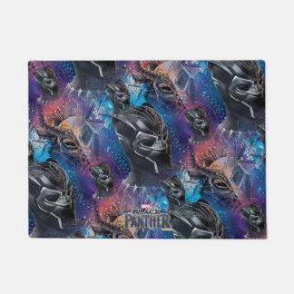 Black Panther | Black Panther & Mask Pattern Doormat