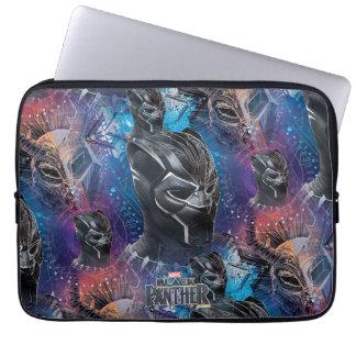 Black Panther | Black Panther & Mask Pattern Laptop Sleeve