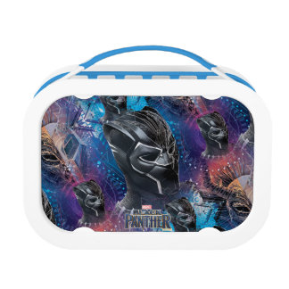 Black Panther   Black Panther & Mask Pattern Lunch Box