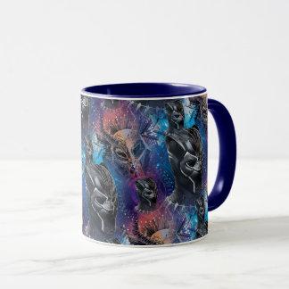 Black Panther | Black Panther & Mask Pattern Mug