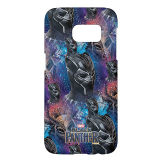 Black Panther   Black Panther & Mask Pattern Samsung Galaxy S7 Case
