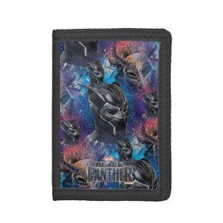 Black Panther   Black Panther & Mask Pattern Tri-fold Wallet