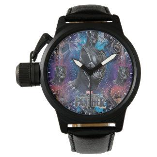 Black Panther   Black Panther & Mask Pattern Watch