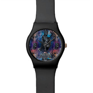 Black Panther | Black Panther & Mask Pattern Watch