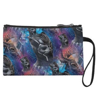 Black Panther | Black Panther & Mask Pattern Wristlet