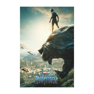 Black Panther | Black Panther Standing Atop Lair Canvas Print