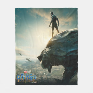 Black Panther | Black Panther Standing Atop Lair Fleece Blanket