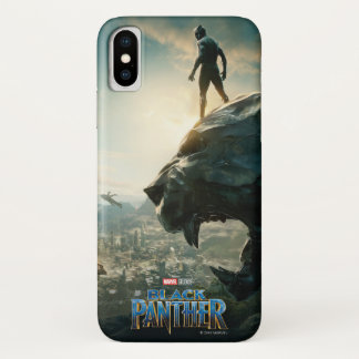 Black Panther | Black Panther Standing Atop Lair iPhone X Case