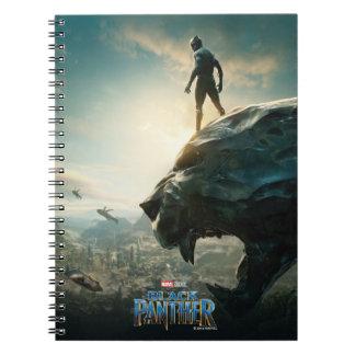Black Panther | Black Panther Standing Atop Lair Notebook