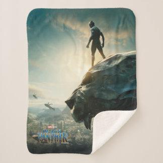 Black Panther | Black Panther Standing Atop Lair Sherpa Blanket