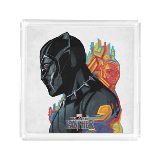 Black Panther | Black Panther Tribal Graffiti Acrylic Tray