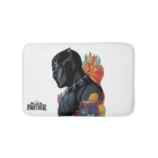 Black Panther | Black Panther Tribal Graffiti Bath Mat