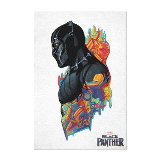 Black Panther | Black Panther Tribal Graffiti Canvas Print
