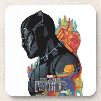 Black Panther | Black Panther Tribal Graffiti Coaster