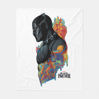 Black Panther | Black Panther Tribal Graffiti Fleece Blanket