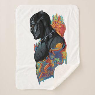 Black Panther | Black Panther Tribal Graffiti Sherpa Blanket