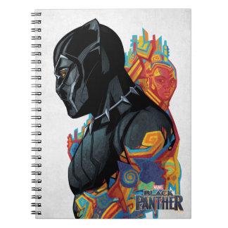 Black Panther | Black Panther Tribal Graffiti Spiral Notebook