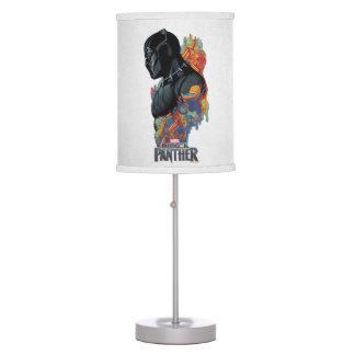 Black Panther | Black Panther Tribal Graffiti Table Lamp