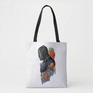 Black Panther   Black Panther Tribal Graffiti Tote Bag