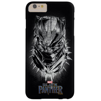 Black Panther | Black & White Head Sketch Barely There iPhone 6 Plus Case