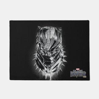 Black Panther | Black & White Head Sketch Doormat
