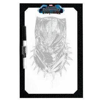 Black Panther | Black & White Head Sketch Dry Erase Board