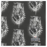 Black Panther | Black & White Head Sketch Fabric