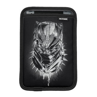 Black Panther | Black & White Head Sketch iPad Mini Sleeve