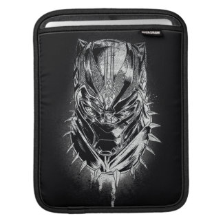 Black Panther | Black & White Head Sketch iPad Sleeve