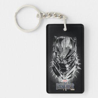 Black Panther | Black & White Head Sketch Keychain