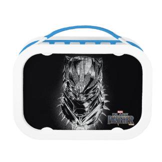Black Panther | Black & White Head Sketch Lunch Box
