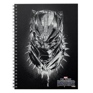 Black Panther | Black & White Head Sketch Notebooks